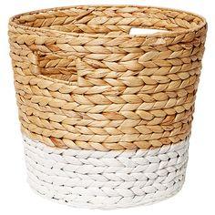 Hyacinth Medium Round Basket - Dipped White | Target Australia FOR TOWELS IN BATHROOM