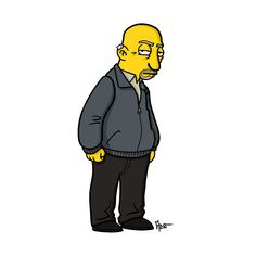 Mike Ehrmantraut - Breaking Bad + The Simpsons - ADN Walter White, The Simpsons, Simpsons Funny, Breaking Bad Series, Gus Fring, Simpsons Characters, Illustration Artists, Character Drawing, Best Tv
