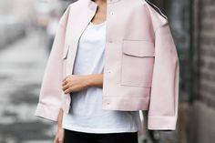 Todays Outfit – Pink Bomber And Flares