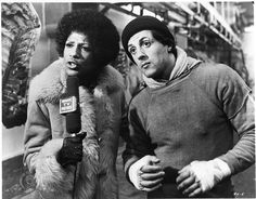 "Rocky (Sylvester Stallone): ""I just want to say hi to my girlfriend, OK? Yo, Adrian! It's me, Rocky."" -- from Rocky (1976) directed by John G. Avildsen"