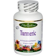 Paradise Herbs, Turmeric, 90 Veggie Caps - iHerb.com