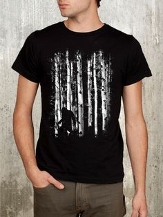 Bigfoot in the Forest. Men's Graphic Tee! #bigfoot #mensfashion #tshirts