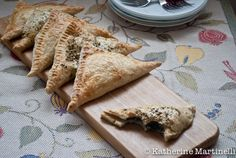 Spinach and Feta Turnovers. Now I'm hungry! :P