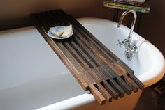 Bathtub Caddy Shelf by peppysis on Etsy, $85.00