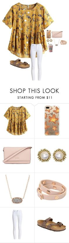 """Untitled #173"" by sophieclairet ❤ liked on Polyvore featuring Casetify, Kate Spade, Kendra Scott, Tory Burch, Barbour and Birkenstock"