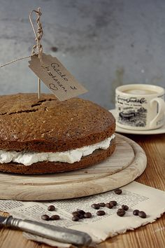 Cake with Chestnut Cream and Whipped Cream