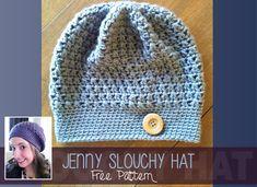 Slouchy Slouch Crochet Hat (Free Slouchy Hat Pattern!) ༺✿Teresa Restegui http://www.pinterest.com/teretegui/✿༻