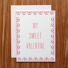 Love You Sweet Valentines Day Card  Boyfriend girlfriend and