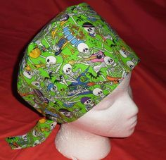 Funny Surgical Caps   Halloween Scrub Caps Pixie Hat Fun Surgical Hats OR Cap Hospital Hats ...