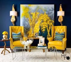 Perfect caution yellow interior design color scheme The post caution yellow interior design color scheme… appeared first on Ameria . Interior Design Color Schemes, Interior Design Tips, Interior Decorating, Color Interior, Decorating Blogs, Interior Ideas, Colorful Interior Design, Interior Shop, Interior Painting