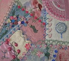 beautiful crazy quilt.  this is one of my most favorite quilt patterns.  love it.