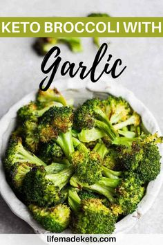 This Keto Broccoli with Garlic is an easy low carb side dish perfect for any weeknight meal. Try this simple and quick broccoli dish with your next meal! Veggies even the kids will love to eat! | healthy meals | healthy dinner ideas | how to eat more veggies | dinner side dishes | how to cook broccoli | ways to cook broccoli | how to make veggies taste better | healthy low carb meals | low carb meals | keto broccoli | keto friendly foods #healthydinners #ketofriendlyfoods #ketolowcarb