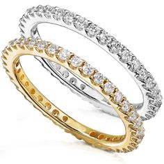 Diamond Eternity Wedding Band 1/2 carat (ctw) in 14K White Gold (H-I/I1-I2) >>> Check out this great product.