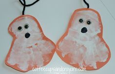 Handprint Ghost Craft for Halloween