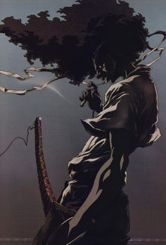 Afro Samurai more dramatic low angles. Without samurai gear lol Afro Samurai, Samurai Anime, Samurai Tattoo, Urban Samurai, Cardcaptor Sakura, Akatsuki, Anime Manga, Anime Art, Anime Girls