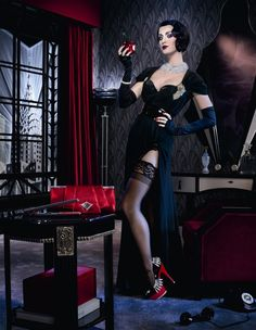 Katy Perry for ghd Scarlet Collection | Photos by David La Chapelle