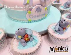 CUPCAKES DE TORTA BABY SHOWER elaborado por MONICA PASTAS Y DULCES.