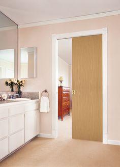 { Imperial Oak Pocket Doors } #interiordoors #bathroomremodel #pocketdoor #modern #diy #homeimprovement #doorbuy