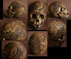 For the buddhists, the skull served at a votive offering...