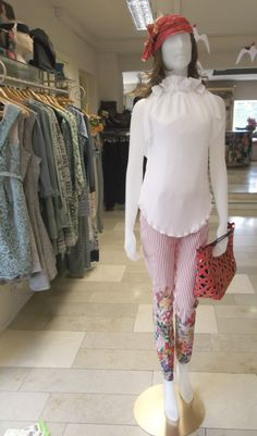 Coordinating an in-house designed-top with daring Derhy trousers