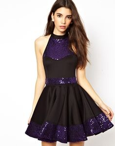 Renee London Skater Dress With Halterneck--Maleficent!!
