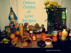 Santeria Orisha of Love, Money and Beauty - #Oshun can be honored with the recipes and spell formulas.