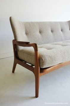 Mid Century Modern Rare Adrian Pearsall Wing Sofa - Couch for Craft Associates   eBay