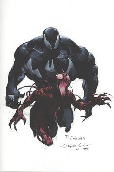 Venom & Carnage - Clayton Crain 2008 Comic Art
