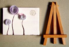 Home Decor, Office Decor, Desk Art--Mixed Media, Lavender Paper Rosette Art, Paper Die Cuts, OOAK on Etsy, $26.00