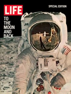 LIFE magazine cover, August 11, 1969 (American astronauts on the moon)