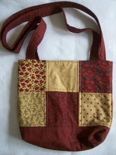 Quilted tot bag book bag craft bag quilted tot bag tot
