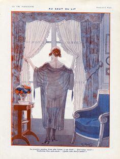 Georges Pavis (1886 – 1977). Au saut du lit. La Vie Parisienne, 1921. [Pinned 28-v-2015]