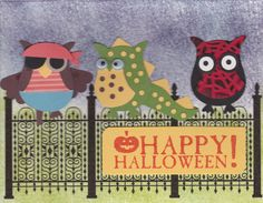 Owl Punch Halloween Hybrid card