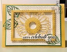 Sunflower Cards, Card Making Techniques, Scrapbook Cards, Stampin Up Cards, Cardmaking, Birthday Cards, Bee, Greeting Cards, Paper Crafts