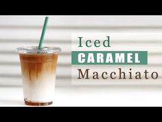 How to Make Starbucks Iced Caramel Macchiato [ Copycat Recipe ] 스타벅스 카라멜 마끼아또 만들기 - YouTube
