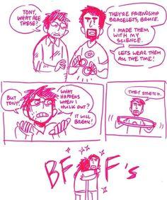 Tony Stark & Bruce Banner BFFs