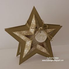 H2 Designs - Star Framelit Card #2014HolidayCatalog