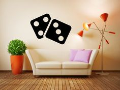Wall Vinyl Sticker Decals Mural Room Design Pattern Art Casino Game Chip Play bo1993 by RoomDecalsAndDesigns on Etsy