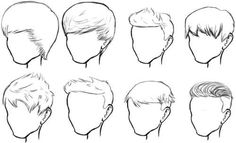 Male Hair Sketches
