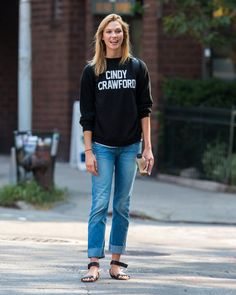 Pin for Later: 50 Denim Looks From 2015 That We'll Never Forget  Karlie Kloss