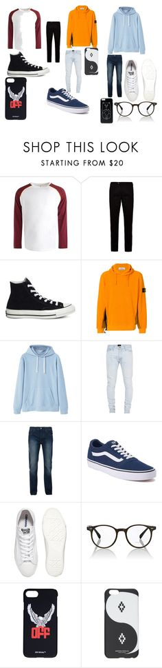 """""""Triplites"""" by destinyhatsune on Polyvore featuring Boohoo, Ted Baker, Converse, STONE ISLAND, MANGO MAN, Fear of God, Bellfield, Vans, Oliver Peoples and Off-White"""