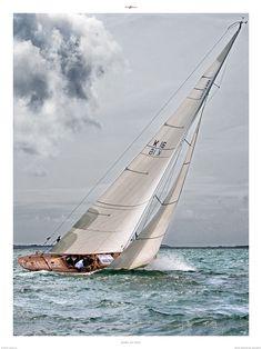 plisson | Poster photo Voile classique - 8 mètres JI - Philip Plisson