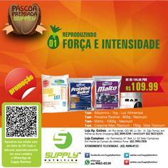 Combo FORÇA & INTENSIDADE! A combinação dos suplementos deste combo leva você a conhecer uma evolução nos treinamentos, permitindo uma maior compensação para os músculos, com aumento de força. * Adquira sua força e sua intensidade!  Entrega grátis em Goiânia e Aparecida SUPPLY Rio Verde – (62) 3094-4294 SUPPLY Campinas – (62) 3942-7035 Televendas – (62) 4008-8133 Whatsapp Supply: (62) 9965-0539  INSTAGRAM: @SUPPLYNUTRITION1