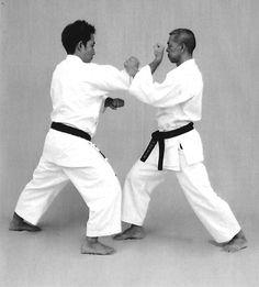 Ryōte osae uke, uraken uchi Martial Arts, Combat Sport, Martial Art