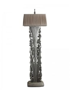 1 light torchiere with side floor lamp lights pinterest floor lamp large solid wood is engraved with hollow out flower as lamp base silver painting finish mozeypictures Choice Image