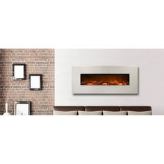 Frigidaire - Frigidaire Valencia 50 Inch Horizontal Wall Mounted Electric Fireplace with Remote Control - N20003 - Home Depot Canada