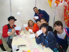 Minioficina de origami - Festival do Japão 2015.