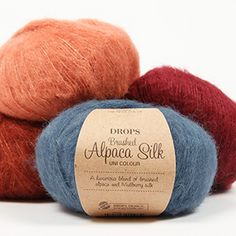 A luxurious yarn in an exclusive mix of brushed, superfine alpaca and subtle shiny silk! Besides being super soft, DROPS Brushed Alpaca Silk has a. Alpacas, Drops Lima, Laine Drops, Drops Alpaca, Shade Card, Flora, Yarn Inspiration, Mulberry Silk, Drops Design
