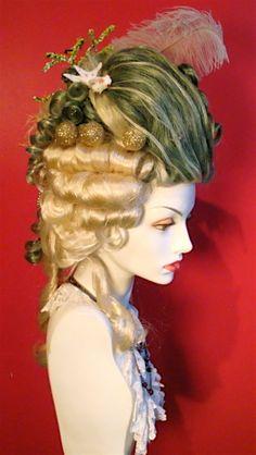 """""""Mermaid Mahittabelle"""" rococo wig by Sweet Hayseed's Wearable Wonders"""