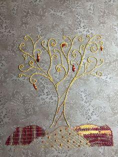Goldwork, Lost Art, Klimt, Snail, Embroidery Stitches, Needlework, Sewing, Metal, Fabric